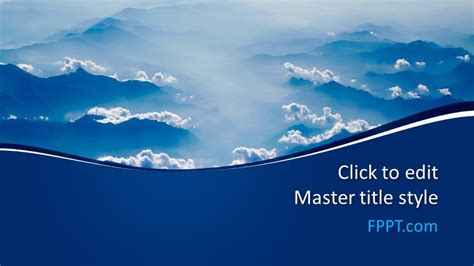 Free Blue Clouds PowerPoint Template - Free PowerPoint