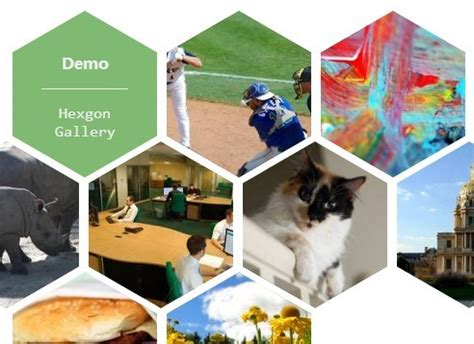Responsive Hexagon Gallery with jQuery and CSS3 | Free