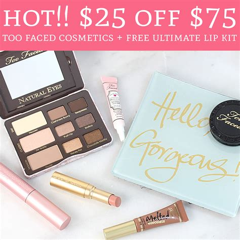 Ends Tonight 4/1! $25 Off $75 @ Too Faced Cosmetics + Free