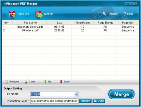 4Videosoft PDF Merger download for free - SoftDeluxe