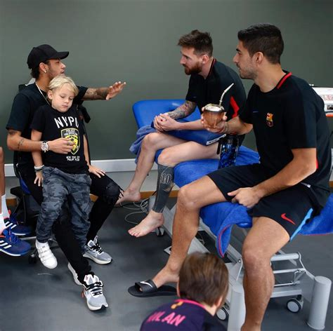 Neymar spent a quality time with Messi and Luis