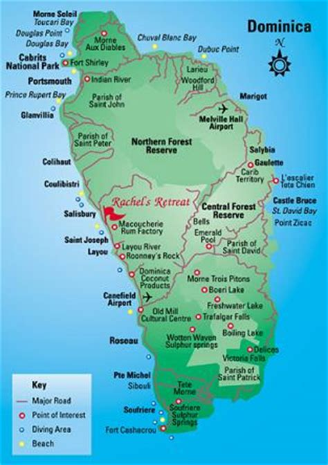 Dominica Map and Dominica Satellite Image