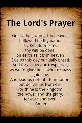 """Recite The LORD'S #Prayer Daily ️ ️ """"Our Father who art in"""
